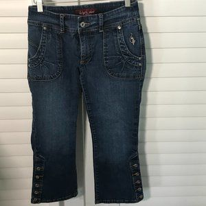 Baby Phat cropped medium wash jeans w.buttons, 3